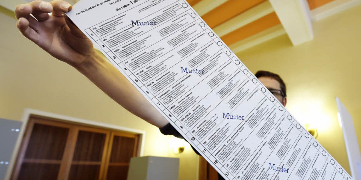 Die Stimmzettel zur Europawahl sind sc...mmunalwahl zumeist noch viel üppiger.   | Foto: dpa