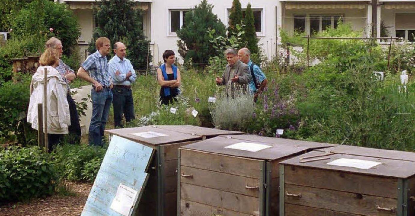 Auf Besichtigungstour in Basel (von li...ier (CDU) und Michael  Koubik (Grüne)   | Foto: Clemens Pfeiffer