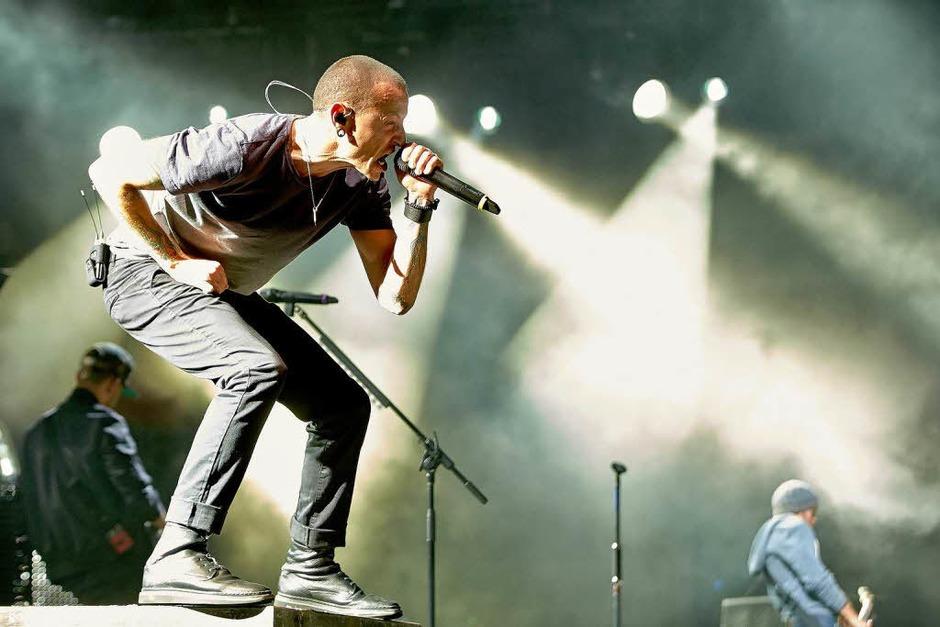Chester Bennington, Frontmann der us-amerikanischen Crossover-Band Linkin Park (Foto: dpa)