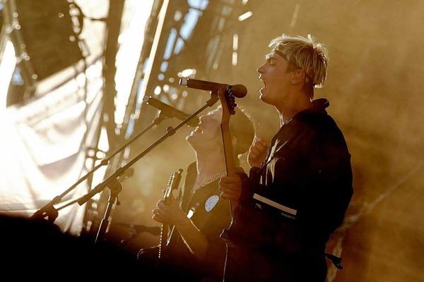 """Frontmann Gustaf Norenvon  der schwedischen Rockband """"Mando Diao"""""""