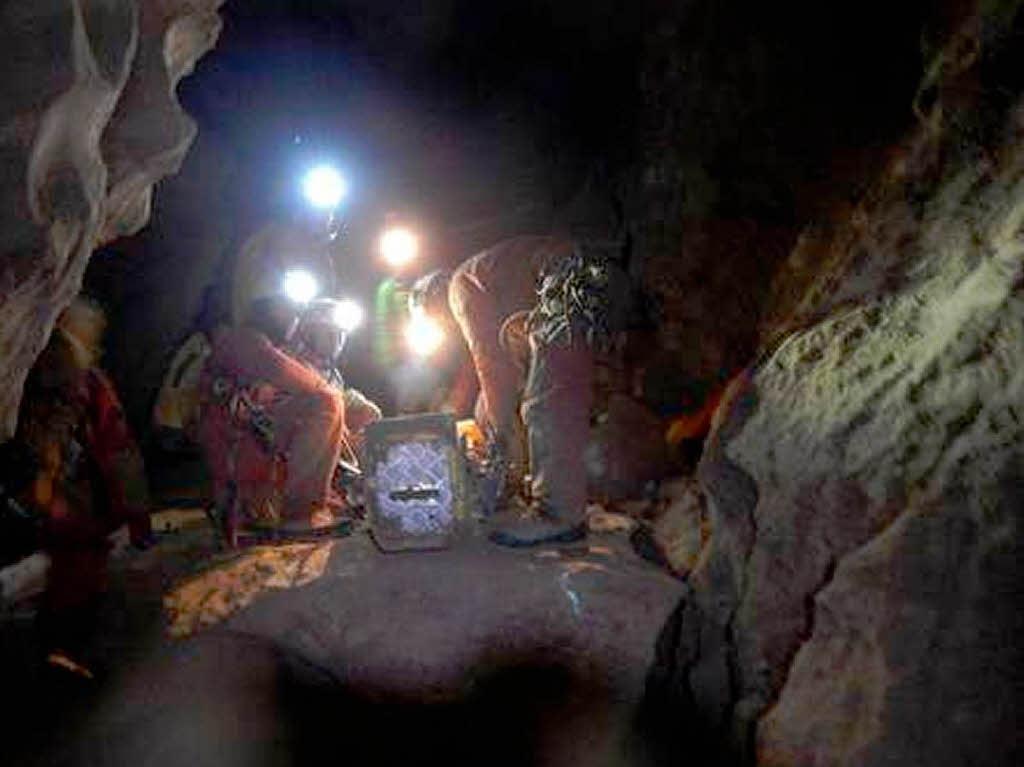 Rettungseinsatz in der riesending-schachthöhle. | foto: dpa
