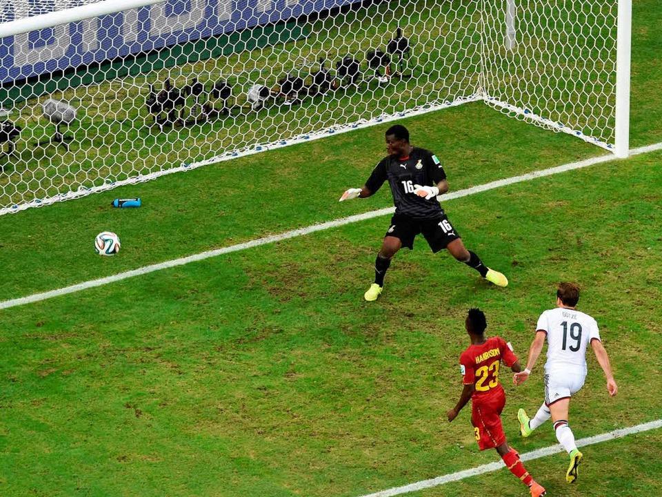 Mario Götze besorgte das 1:0, das jedoch nicht lange währte.    Foto: AFP