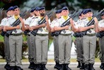 Fotos: Franz�sische Soldaten verlassen Donaueschingen