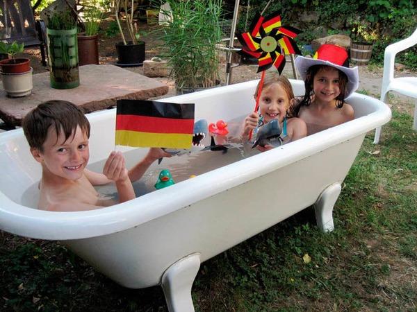 Abkühlung vor dem Deutschland-Spiel