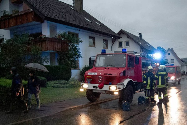 Vollgelaufene Keller, überflutete Straßen: In Elzach-Yach musste sich die Feuerwehr am Montagabend um Unwetterschäden kümmern.