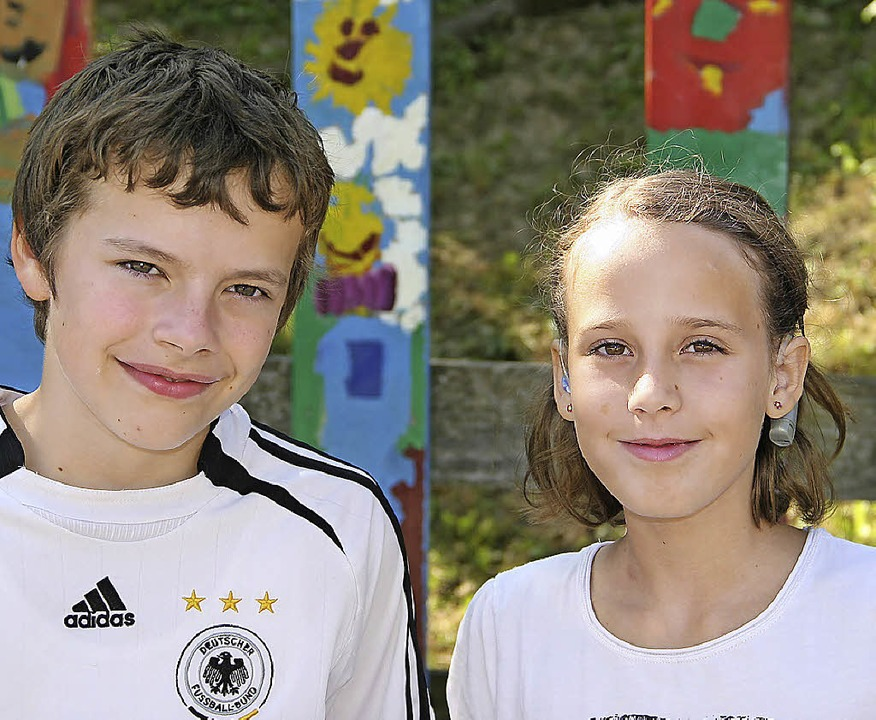 Leander Schunk und Juli Berger.     Foto: privat