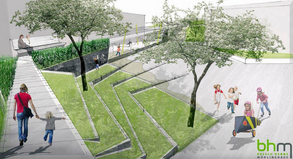 Landschaftsarchitektur garten skizze for Blockhaus innen modern