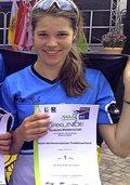 Romina Spitzer mit Team-Gold