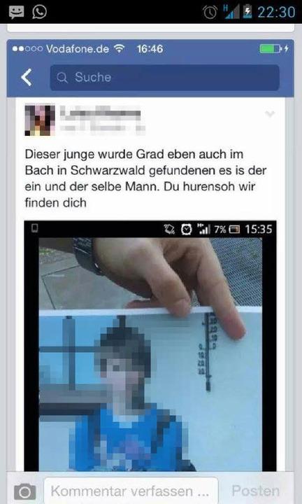 Diese Falschmeldung macht auf Facebook die Runde.  | Foto: bz