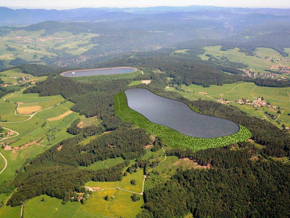 So könnte das Pumpspeicherwerk Atdorf aussehen.  | Foto: Schluchseewerk AG