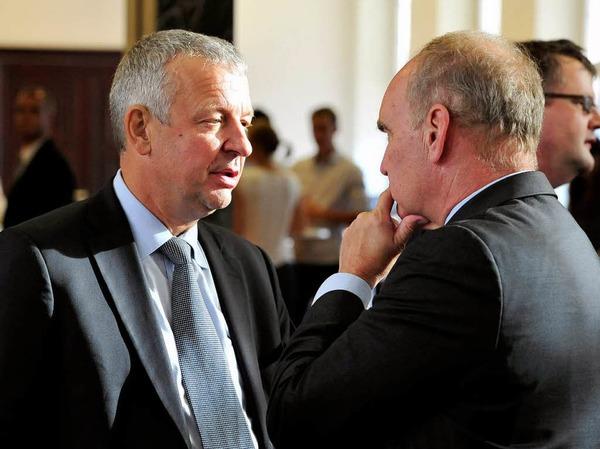 WVIB-Hauptgeschäftsführer Christoph Münzer (links) im Gespräch