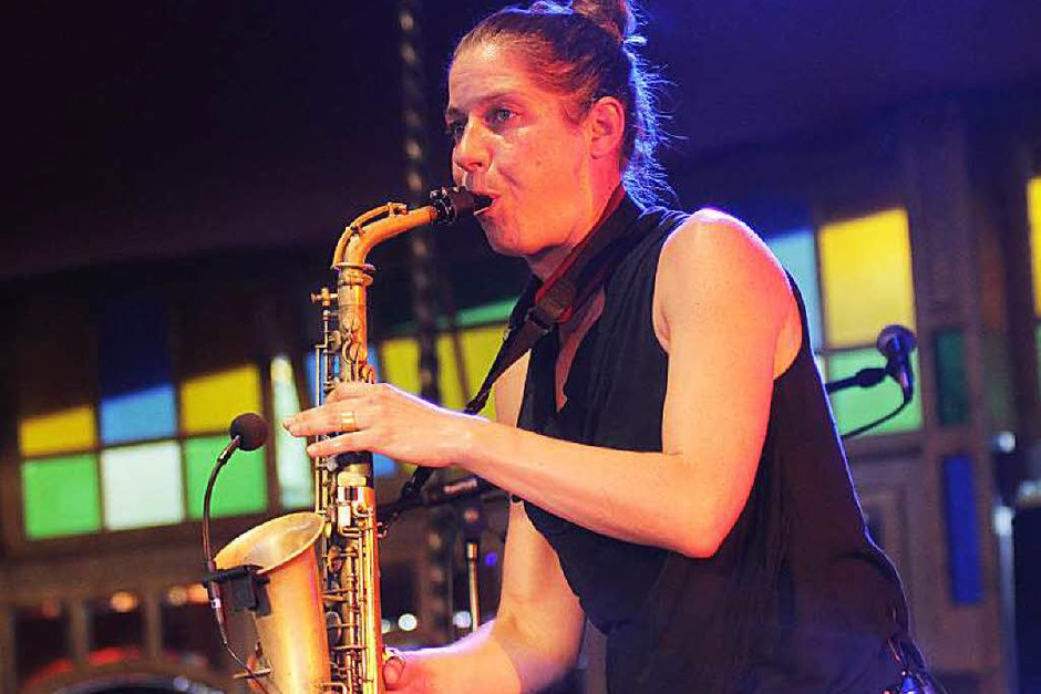 Altsaxophonistin Steffi Schimmer. (Foto: Wolfgang Grabherr)