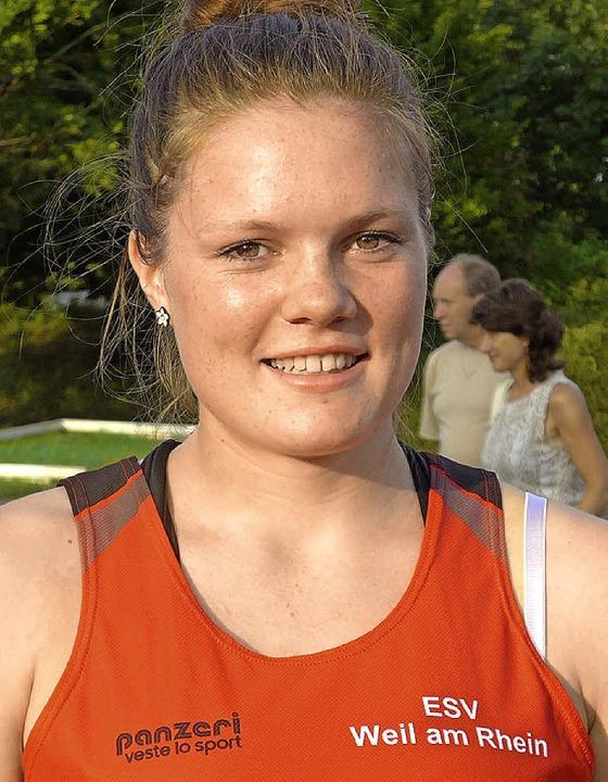 Stellte eine neue Bestleistung auf: Pia Strauß (U 18) vom ESV Weil  | Foto: Claudia Marchlewski