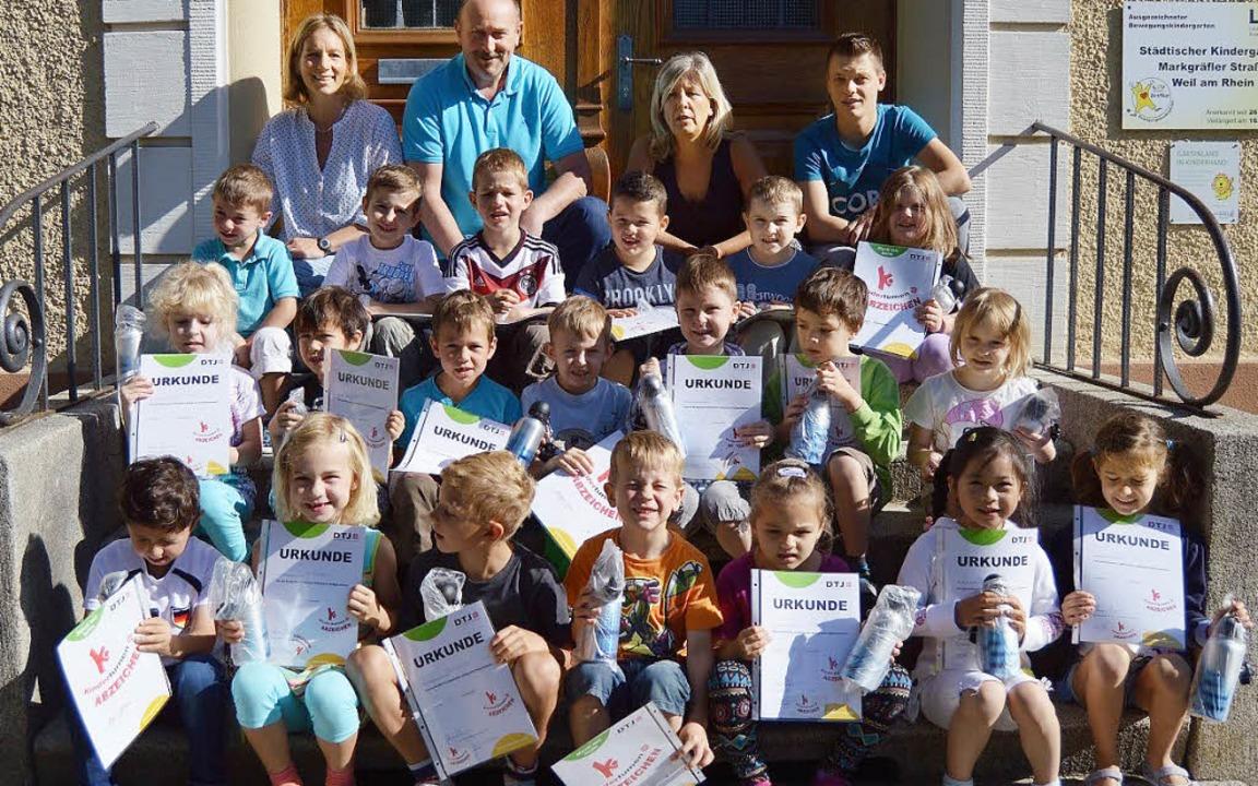 Alle Kinder bestanden die Prüfung für das Turnabzeichen.    Foto: zVg