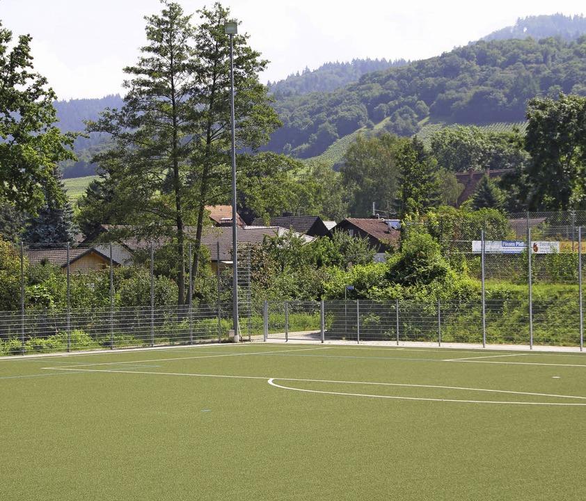 Die Sportanlage in Ballrechten-Dottingen grenzt unmittelbar an die Wohnbebauung.  | Foto: Model
