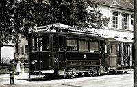 Die Tram fuhr schon um 1900 �ber die Grenzen