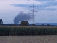 Orschweier: Gro�brand bei Entsorgungsbetrieb