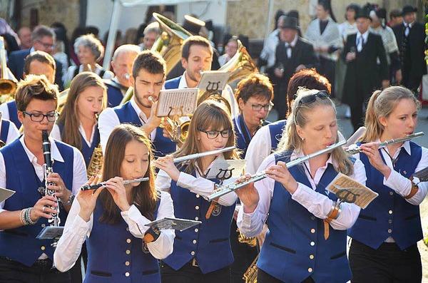 Der Musikverein Wolfenweiler-Schallstadt umrahmte die Festeröffnung