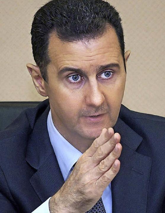 Doppeltes Spiel:  Baschar al-Assad   | Foto: dpa