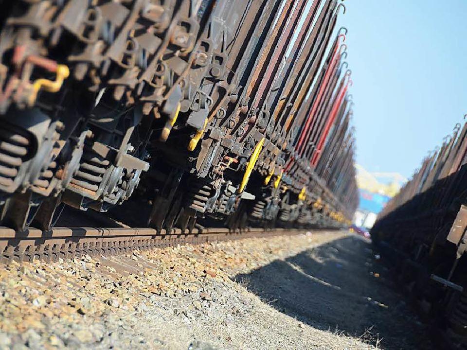 Laut, lauter, Güterzüge? Dem will die Schweiz einen Riegel vorschieben.  | Foto: Helmut Seller