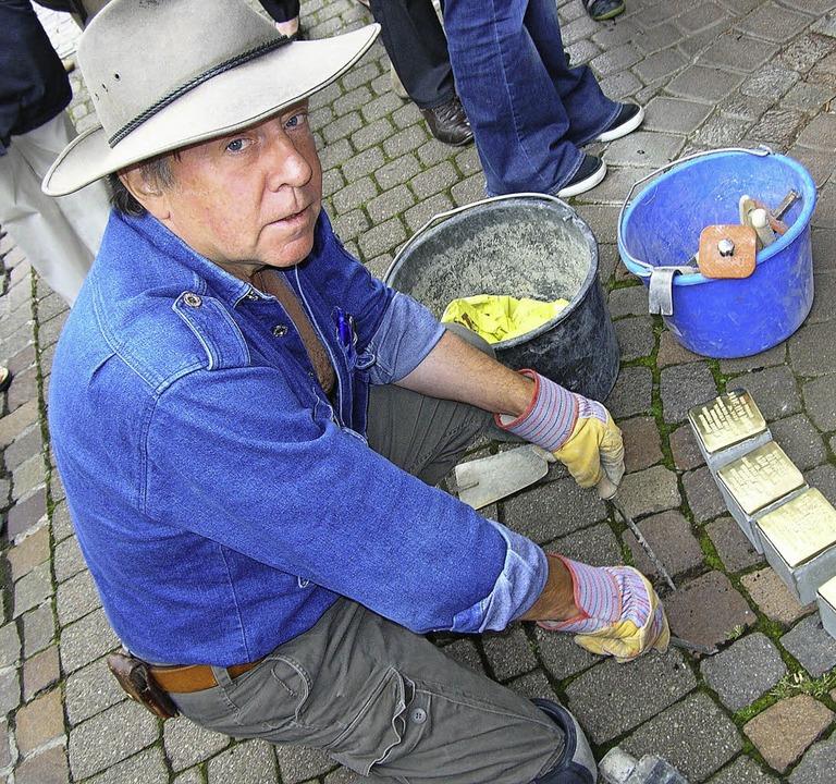 In Badenweiler hat der Künstler Gunter Demnig schon  Stolpersteine verlegt.  | Foto: MICHAELIS