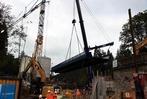 Fotos: Neue Eisenbahnbrücke bei Kappel eingesetzt