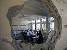 Schulbeginn in den Tr�mmern von Gaza