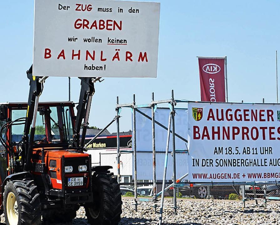 Die Bürger protestieren, die Politiker...n Müllheim und Auggen gefordert wird.     Foto: Sigrid Umiger