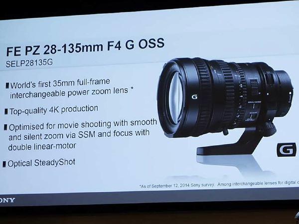 Sony zeigte diesmal nur neue Objektive, u.a. ein Universalzoom speziell für Video im Vollformat