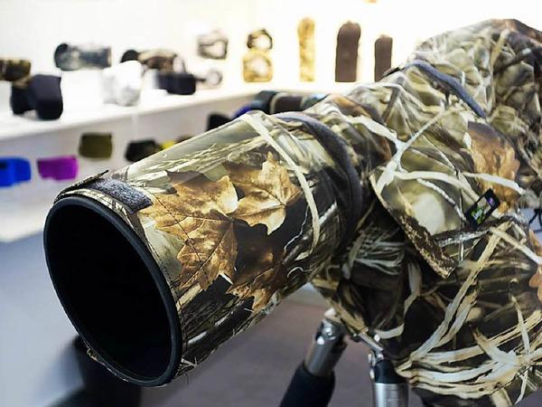 Für Tierfilmer oder Kriegsfotografen? Der Tarnanzug für's Teleobjektiv