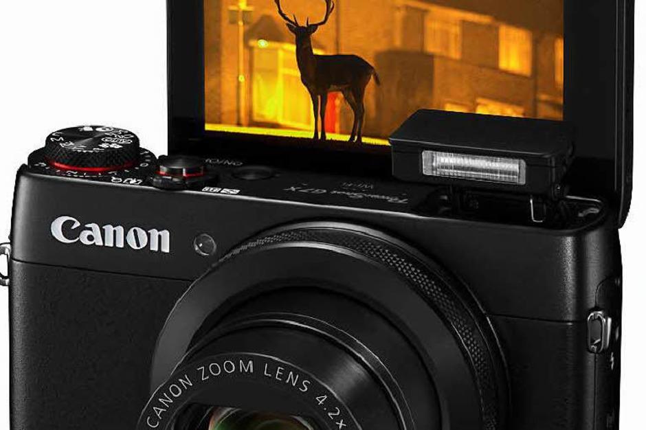 Selfie-fähiges Display und Ein-Zoll-Sensor: Canons Premiumkompakte G7 X kostet 649 Euro (Foto: dpa-tmn)