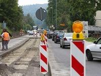 Baustelle f�hrt zu Verkehrskollaps in Lahr