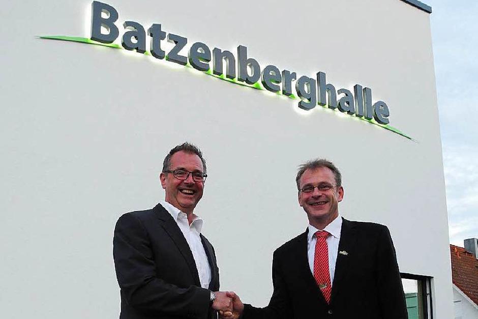 Architekt Klaus Wehrle und Bürgermeister Dieter Hahn (Foto: Sophia Hesser)