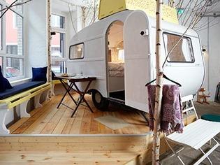 Berliner Hotel bietet Indoor-Camping