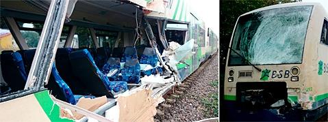Zug der Breisgau-S-Bahn prallt gegen Laster in Ihringen