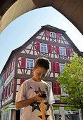 Geocaching in Lahr: Modern ins Mittelalter