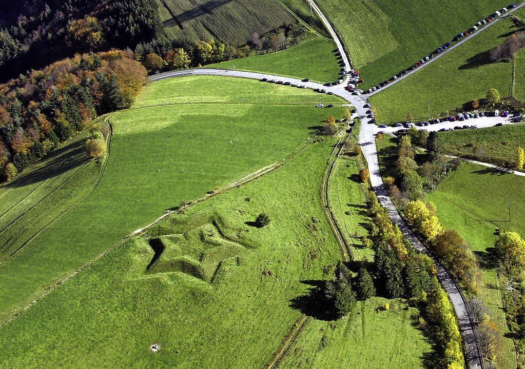 Die Sternschanze bei Neuenweg ist auch...es Geschichtsvereins Markgräflerland.     Foto: Erich Meyer