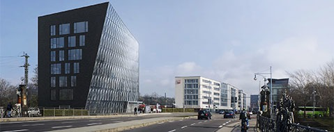 Glasfassade statt Turm an der Freiburger Bahnhofsachse
