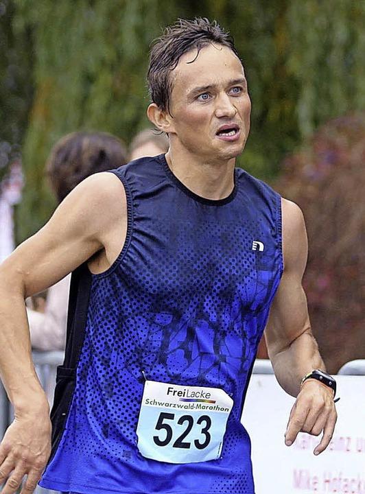 Überraschungs-Zweiter auf der Marathonstrecke: Bernd Weishaar aus Bonndorf  | Foto: Dieter Reinhardt
