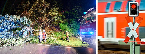 Unwetter �ber S�dbaden: H�llentalbahn komplett gesperrt