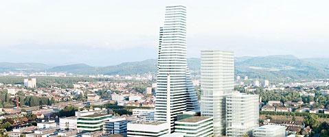 Roche plant das erste 200-Meter-Hochhaus der Schweiz