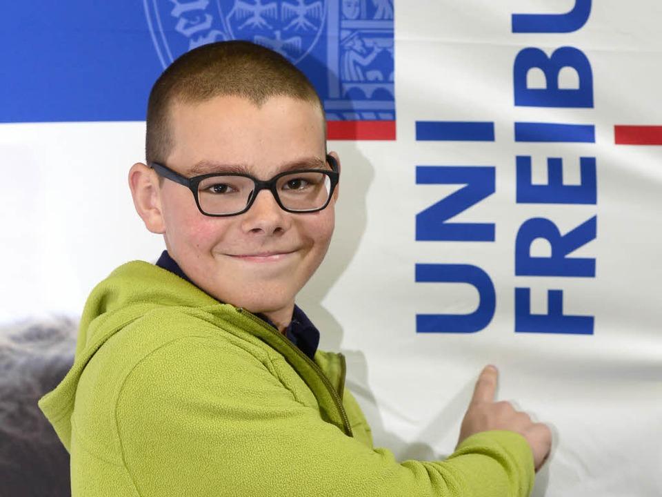 Jungstudent Bastian Eichenberger  | Foto: Ingo Schneider