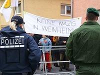 Weinheim stellt sich gegen den Bundesparteitag der NPD