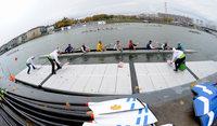 Ruderelite auf dem Rhein