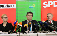 Der rot-rot-gr�ne Koalitionsvertrag ist fertig