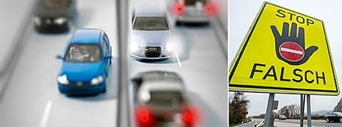 Geisterfahrer-Unfall auf der A 5 � Beinahe-Katastrophe