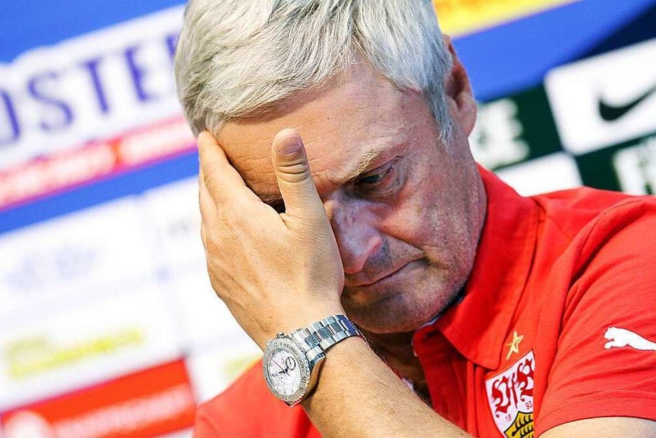Am 24. November tritt Armin Veh als Cheftrainer des VfB Stuttgart zurück. (Foto: dpa)