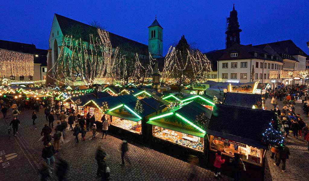 Freiburger Weihnachtsmarkt startet bei zweistelligen ...
