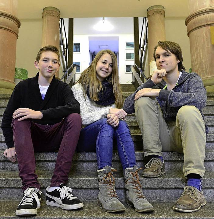 Haben ihre Meinung zu den politischen ...l und Paul Stümke vom Goethe-Gymnasium    Foto: Ingo Schneider