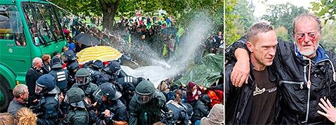 Gericht in Stuttgart stoppt Wasserwerfer-Prozess